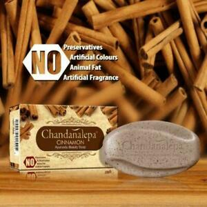 CHANDANALEPA CINNAMON Herbal Beauty Soap Ayurveda Skin,Aknes Natural Free Ship