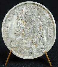 Médaille 31 mai 1727 traité de paix France Angleterre Hollande Espagne medal