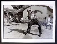 Photo Alberto Ibanez - Mexique - El Diablo - Chaman en guerre - Tirage d'époque