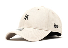 NEW ERA 9FORTY ADJUSTABLE CAP. LINEN SMALL LOGO. NY YANKEES