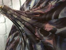 Vintage Pagoda Umbrella Purple Fabric Lucite Handle Mid-century Old Classic