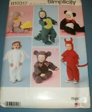 Simplicity 2506 Baby Toddler Mouse Panda Devil Costumes Sewing Pattern Sz 1/2-4