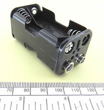 Battery holder for 4 x AA (UM-3) cells - square type - stud contacts - black
