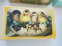 Easter Gladness Handmade Wooden Block Decoration Table Top Decor Chicks Flowers