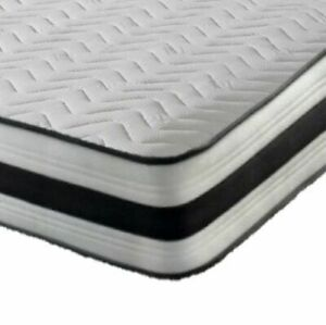 MEMORY FOAM SPRING QUILTED BUDGET MATTRESS SINGLE 3FT
