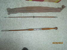 Vintage Horrocks Ibbotson Bamboo 2 piece Fishing Rod Wood Handle Jamaican Tonkin