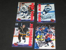 LOT (4) NHL HOCKEY PLAYERS SIGNED AUTOGRAPHED CARDS FERRARO, TAMER, BEUKEBOOM+