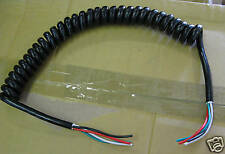 "Coil Cord, Power cord, SJT,18 AWG,4C,13"" black 100 pcs"