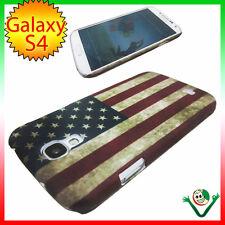 Cover per Samsung Galaxy S4 i9505 SIV BANDIERA americana VINTAGE custodia USA