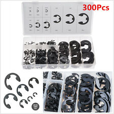 300Pcs E-Clips Assortment Shafts Snap Retaining Washer Circlip Buckle Lock Rings