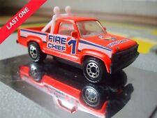 MATCHBOX DODGE ORANGE FIRE CHIEF PICKUP INTERCOM CITY TOY MODEL CAR TALK BARCODE