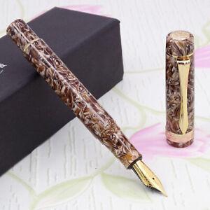 LIY Marble Resin Acrylic Fountain Pen Schmidt Nib & Converter F Gift Box-Mocun