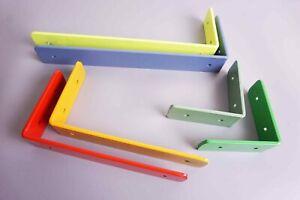 Shelf Brackets / Shelving Industrial Iron Steel Handmade Heavy Duty Coloured