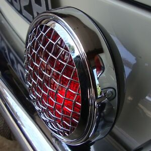 Stop / Fog light Red Vintage Mesh grille light wire grill for Porsche VW AAC153