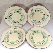 "4 Vintage Stangl Dinner Plates Petite Flowers Hand Painted Pottery 10.5"" Dia"