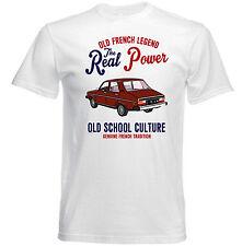 VINTAGE Francese AUTO RENAULT 12-Nuovo T-shirt di Cotone