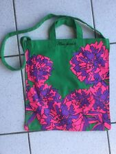 Sac Jacobs By Marc Jacobs toile vert fleurs rose violet Neuf