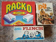 Lot of Vintage Parker Bros. card games. Flinch - Pit - Racko