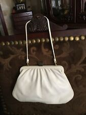 Marc Jacobs Evening White Leather Small Purse With Butterfly Clasp