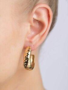 Boucles d'oreilles Créole Femme THIERRY MUGLER Plaquée Or et Zirconium. 89,00 €