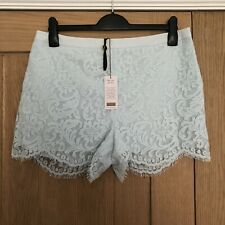 Ted Baker Azaria Light Blue Lace Shorts, Size 4, UK 14, BNWT, RRP £109