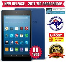NEW RELEASE 2017 Amazon Kindle Fire HD 8 16gb Tablet with Alexa! - 7th Gen BLUE