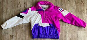 Vintage Obermeyer Tomcat Gore-Tex Ski Pullover Coat Color Block Purple & White