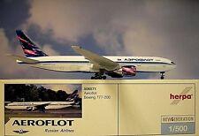 Herpa Second Hand Wings 1:500 Boeing 777-200  Aeroflot 506571  Modellairport500