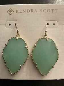 NEW Kendra Scott Chalcedony Drop Earrings
