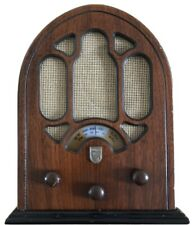 Vintage Philips Wooden Radio Old Cathedral Style Full Working Made In Italy