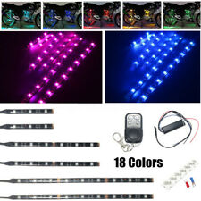 6x RGB Unterboden Beleuchtung SMD 5050 LED Strip Farbwelchsel Für Honda Motorrad