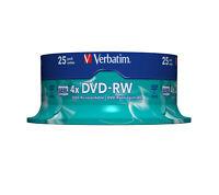 43639 Verbatim 25 x DVD-RW 4.7GB (120 Min.) 4x ~D~