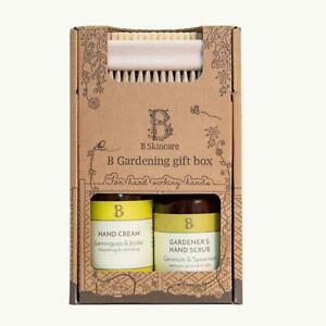 B Skincare: Gardening Gift Box Hand Scrub, Hand Cream and Bristle Nail Brush