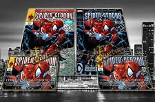 Spider-Geddon #1 Philip Tan Spider-man #1 Variant SET (REGULAR + SILVER) - HOT!!