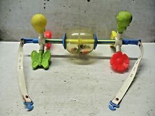 Old Vintage 1970s Fisher Price Little People Baby Crib Playpen Activity Mobile