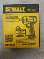 "DeWalt 20 V Max Lithium Ion 1/2"" 13MM IMPACT Wrench With Detent PIN, DCF880B"