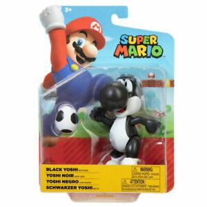 Super Mario 4 Inch Black Yoshi with Egg Brand New