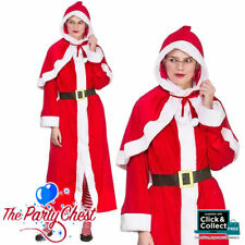 MRS CLAUS CHRISTMAS COSTUME Mrs Santa Claus Xmas Fun Fancy Dress Outfit 4660