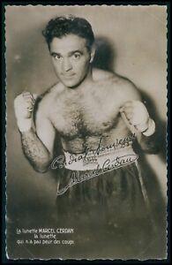Marcel Cerdan France Boxing Sports original 1940s photo postcard