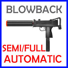 Airsoft Blowback Green Gas Mac 10 Semi Full Automatic Pistol UZI Gun Mac 11 SMG