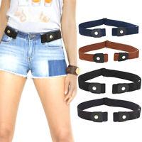 Cinturón unisex Elástico sin hebilla Ajustable Cinturón Decorac QN