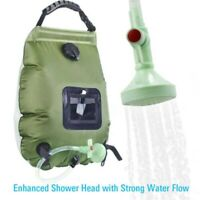 Portable Travel Camping Outdoor Solar Energy Heated Water Shower Bathing Bag 20L