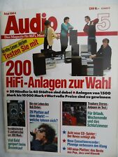 AUDIO 5/84 DUAL CD 130,REVOX B 225,SHARP DX 500,TELEFUNKEN HS 950,SANYO CP 300