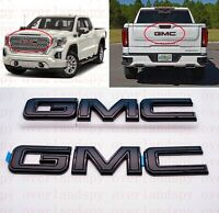 2019 2020 GMC Sierra 1500 Front & Rear BLACK GMC Emblems MULTI PRO Tailgate OEM