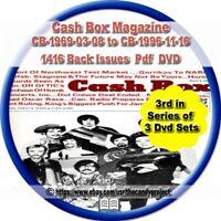 1413 Cash Box Magazines Trade Music Celebrities Vintage Defunct PDF 3 DVDs #3
