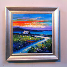 SOUTH UIST/' FRAMED SIGNED PRINT FRASER MILNE /'SUMMER SUNSET