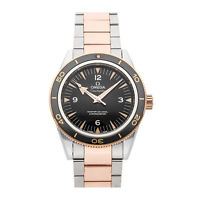 Omega Seamaster 300m Auto Steel Gold Mens Bracelet Watch 233.20.41.21.01.001