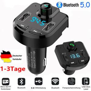 Bluetooth -FM Transmitter Auto Radio Audio MP3 Player USB Ladegerät Adapter KFZ