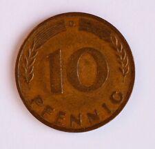 Münze 10 Pfennig 1950 D _ BRD