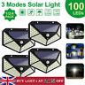 100LED Solar Power Light PIR Motion Sensor Security Outdoor Garden Wall Lamp FR